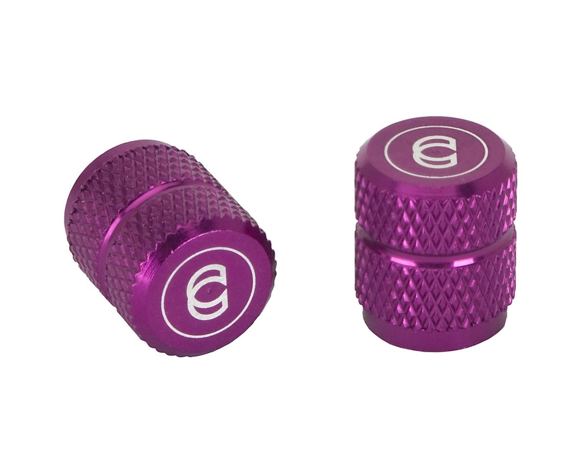 Cinema Alloy Valve Caps (Schrader) (Purple)