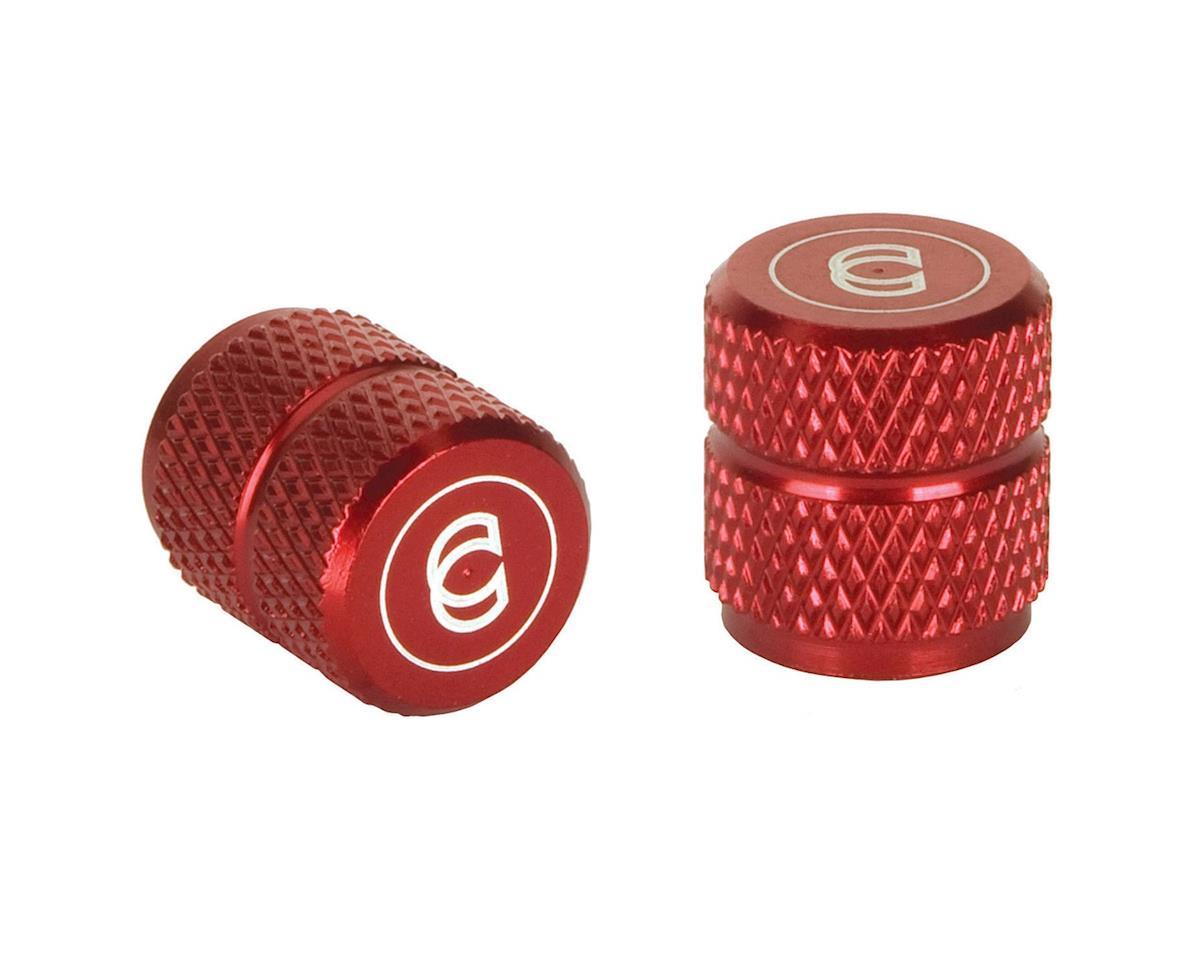 Cinema Alloy Valve Caps (Schrader) (Red)