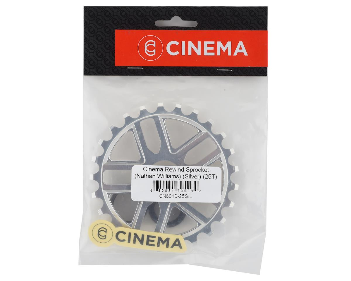Image 3 for Cinema Rewind Sprocket (Nathan Williams) (Silver) (25T)