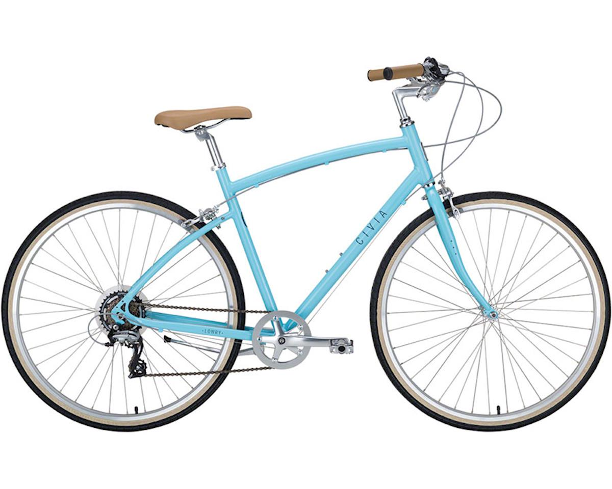 Civia Lowry Step Over 7-speed Bike: Light Blue/Gray MD