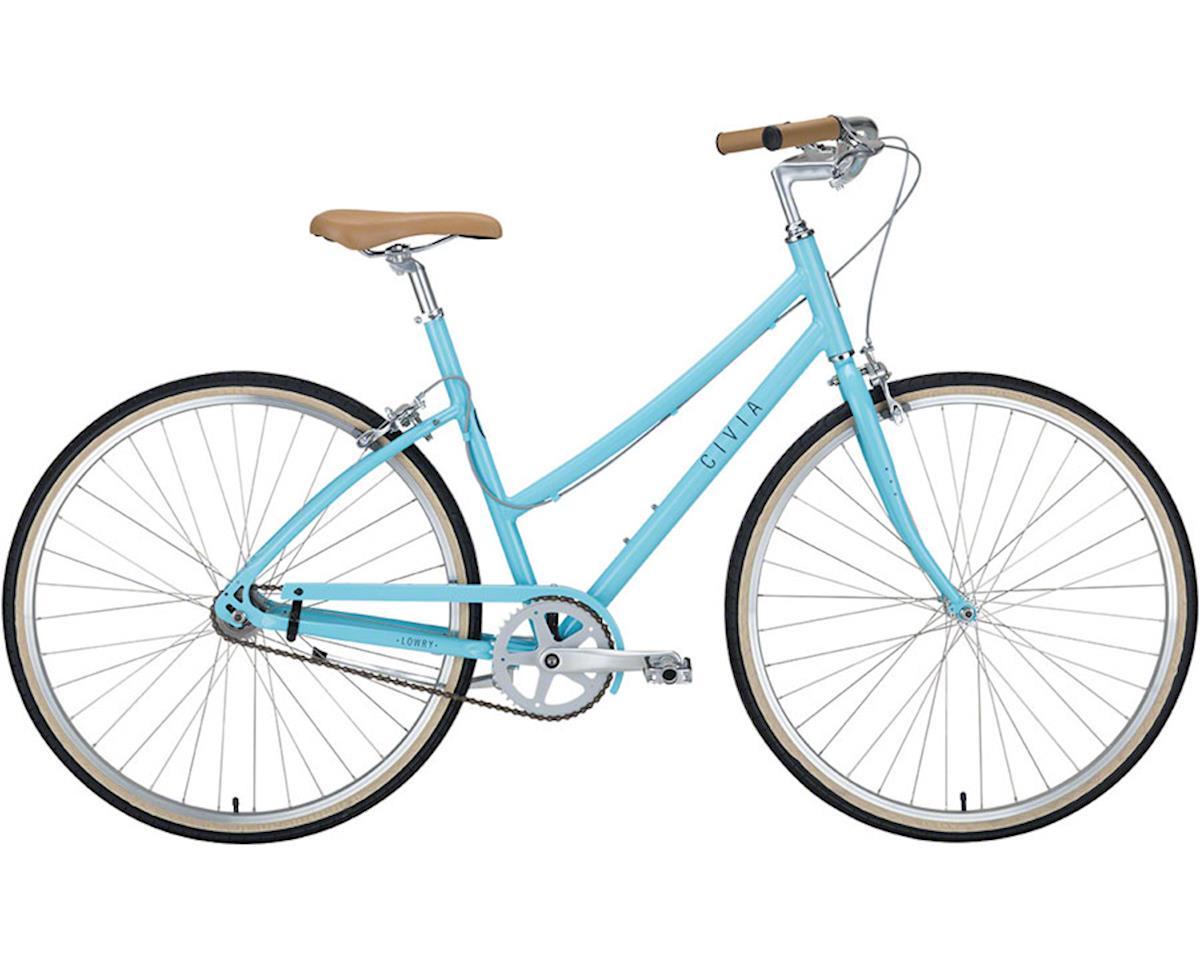 Civia Lowry Step Thru Single-Speed Bike: Light Blue/Gray MD