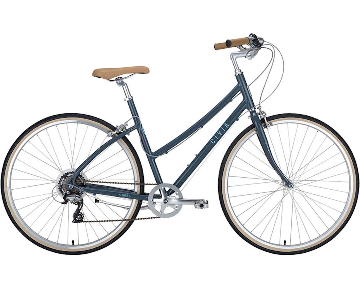 Civia Lowry Step Thru 7-speed Bike: Gray/Light Blue LG