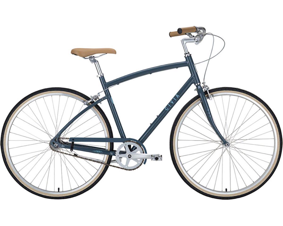 Civia Lowry Step Over Single-Speed Bike: Gray/Light Blue MD