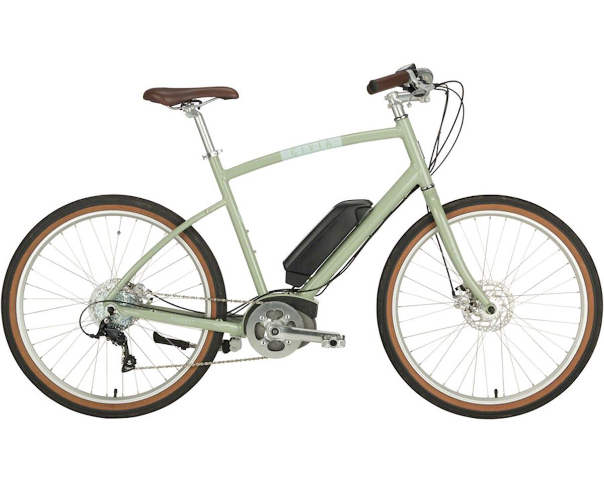 "Civia Parkway Step-Over Complete ebike: 26"" Clay Gray Small"