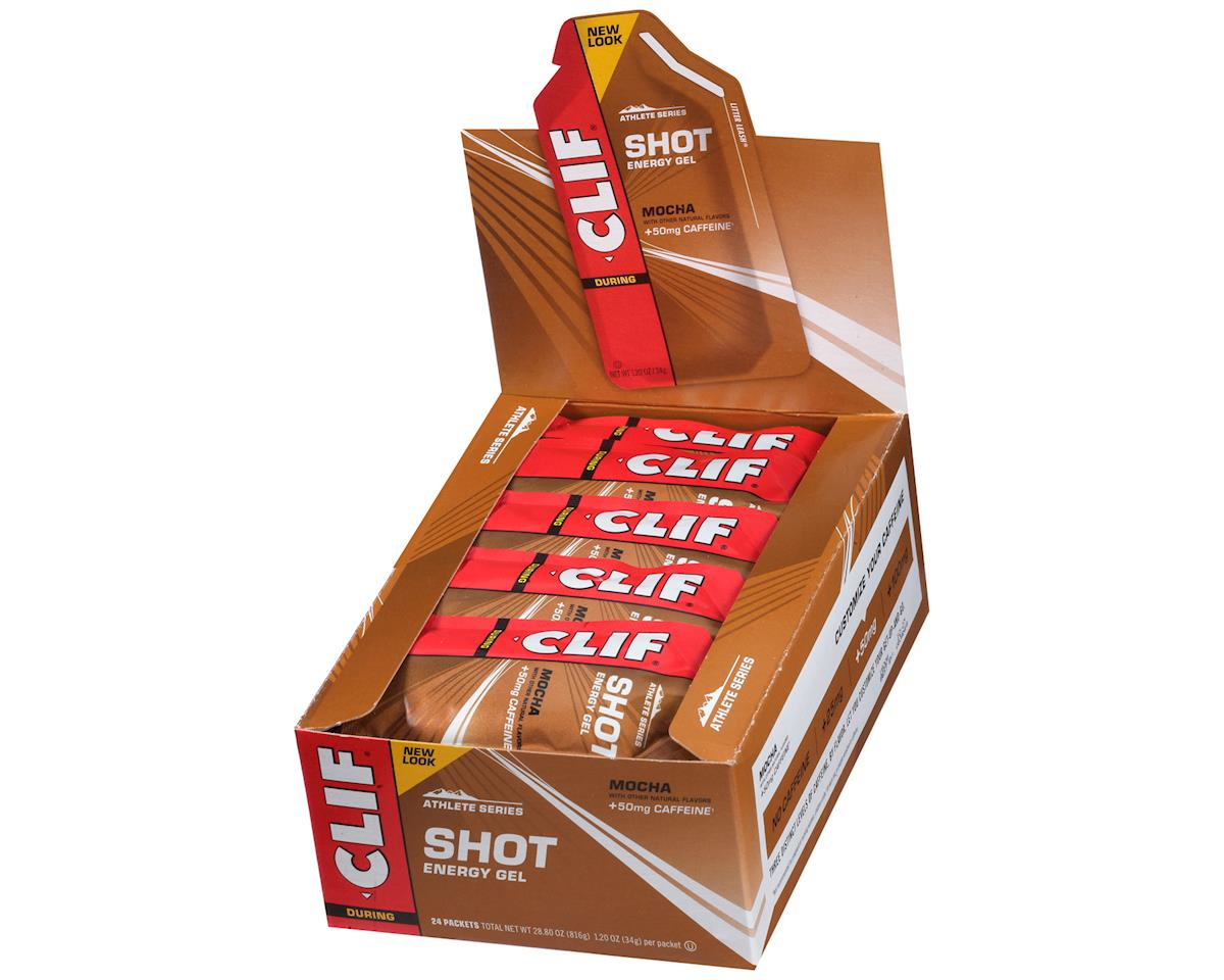 Clif Bar Shot Energy Gel (Mocha w/Caffeine) (24 1.2oz Packets)