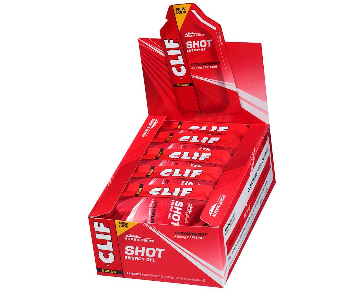 Clif Bar Shot Energy Gel (Strawberry w/Caffeine) (24 1.2oz Packets)