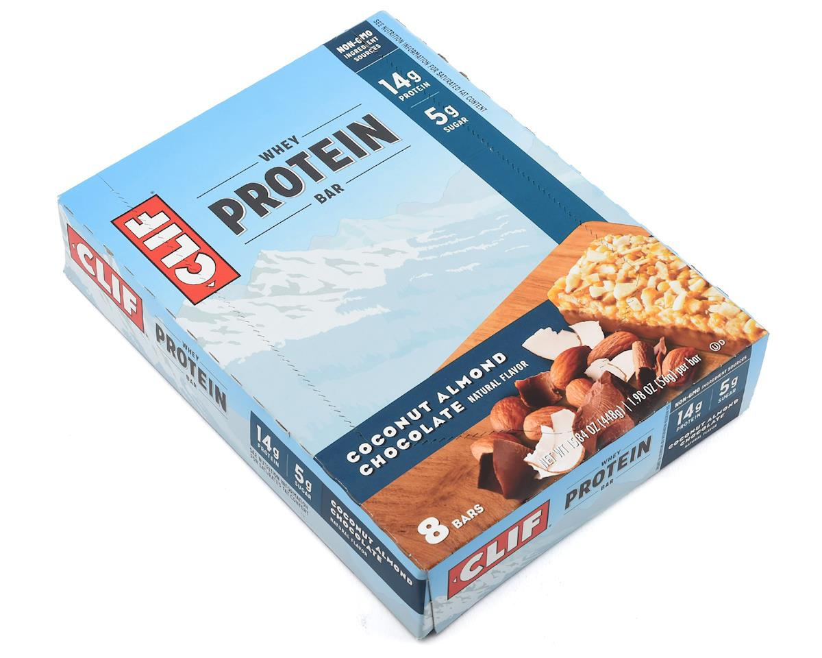 Clif Whey Protein Bar: Coconut Almond Chocolate, Box of 8