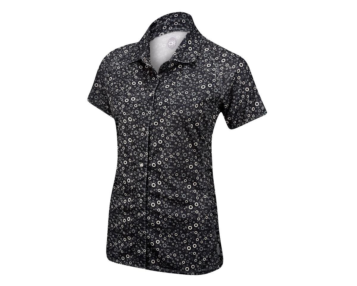 Club Ride Apparel Women's Bandara Short Sleeve Jersey (Black) (XL)