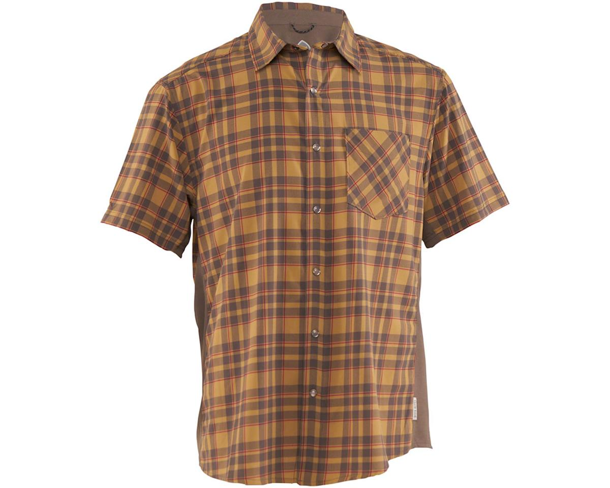 Club Ride Apparel Detour Short Sleeve Shirt (Khaki/Cayenne) (L)