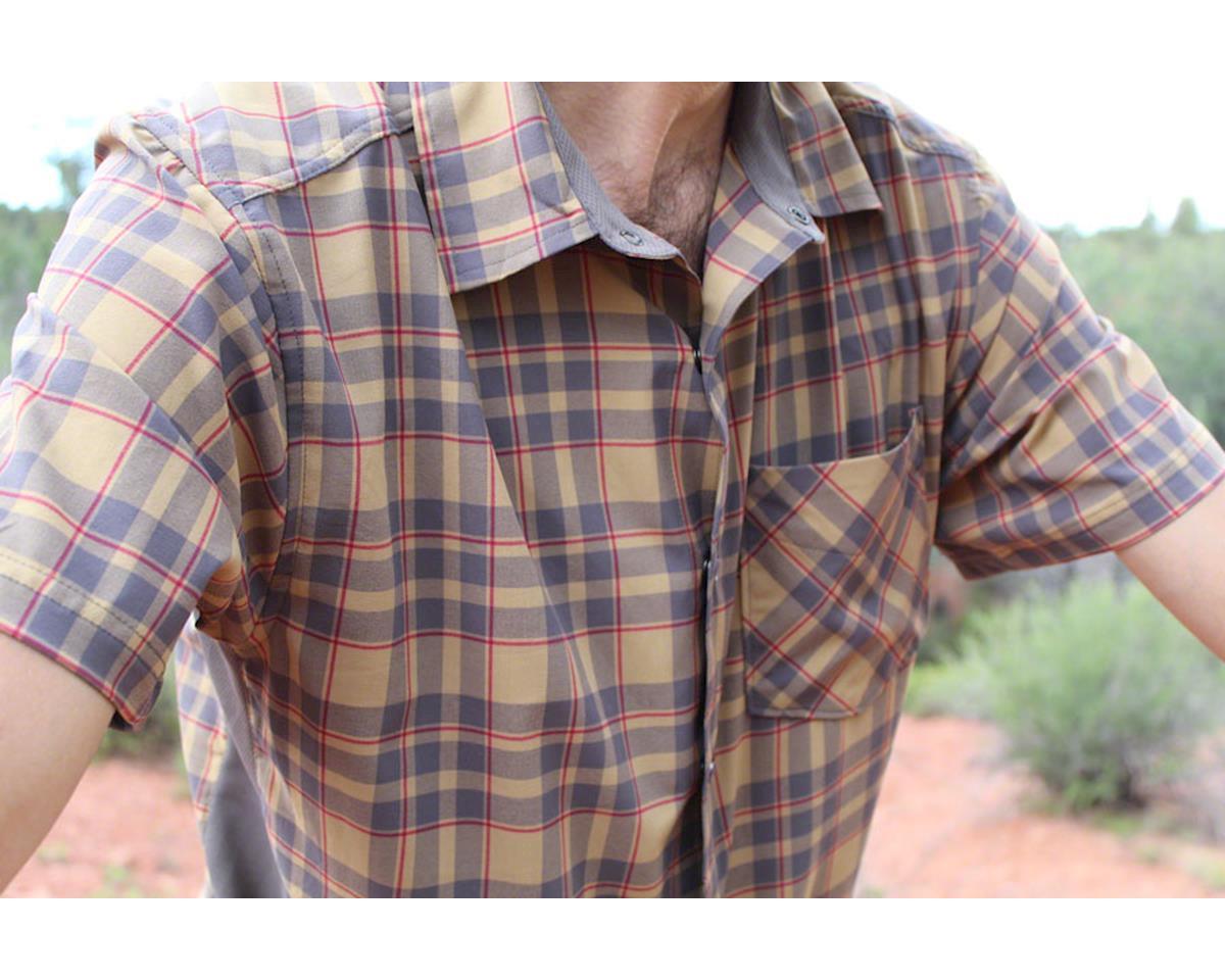 Image 3 for Club Ride Apparel Detour Short Sleeve Shirt (Khaki/Cayenne) (S)