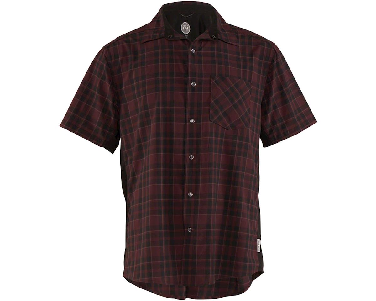 Club Ride Apparel Detour Short Sleeve Shirt (Merlot) (S)