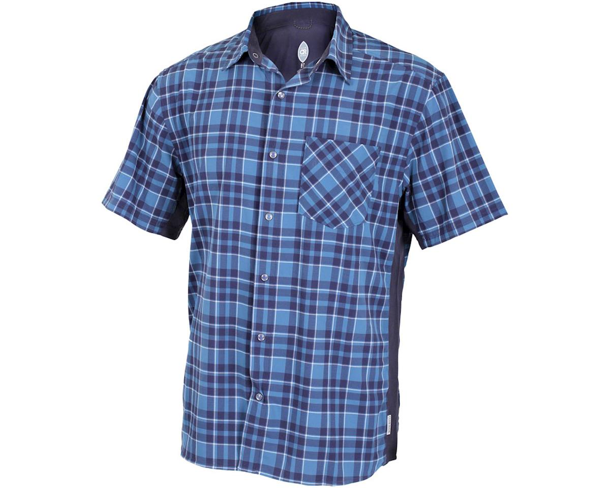 Club Ride Apparel Detour Short Sleeve Shirt (Steel Blue) (S)