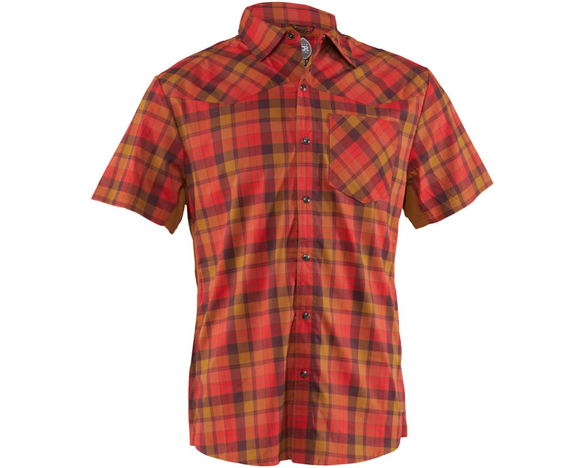 Club Ride Apparel New West Short Sleeve Shirt (Flame) (M)