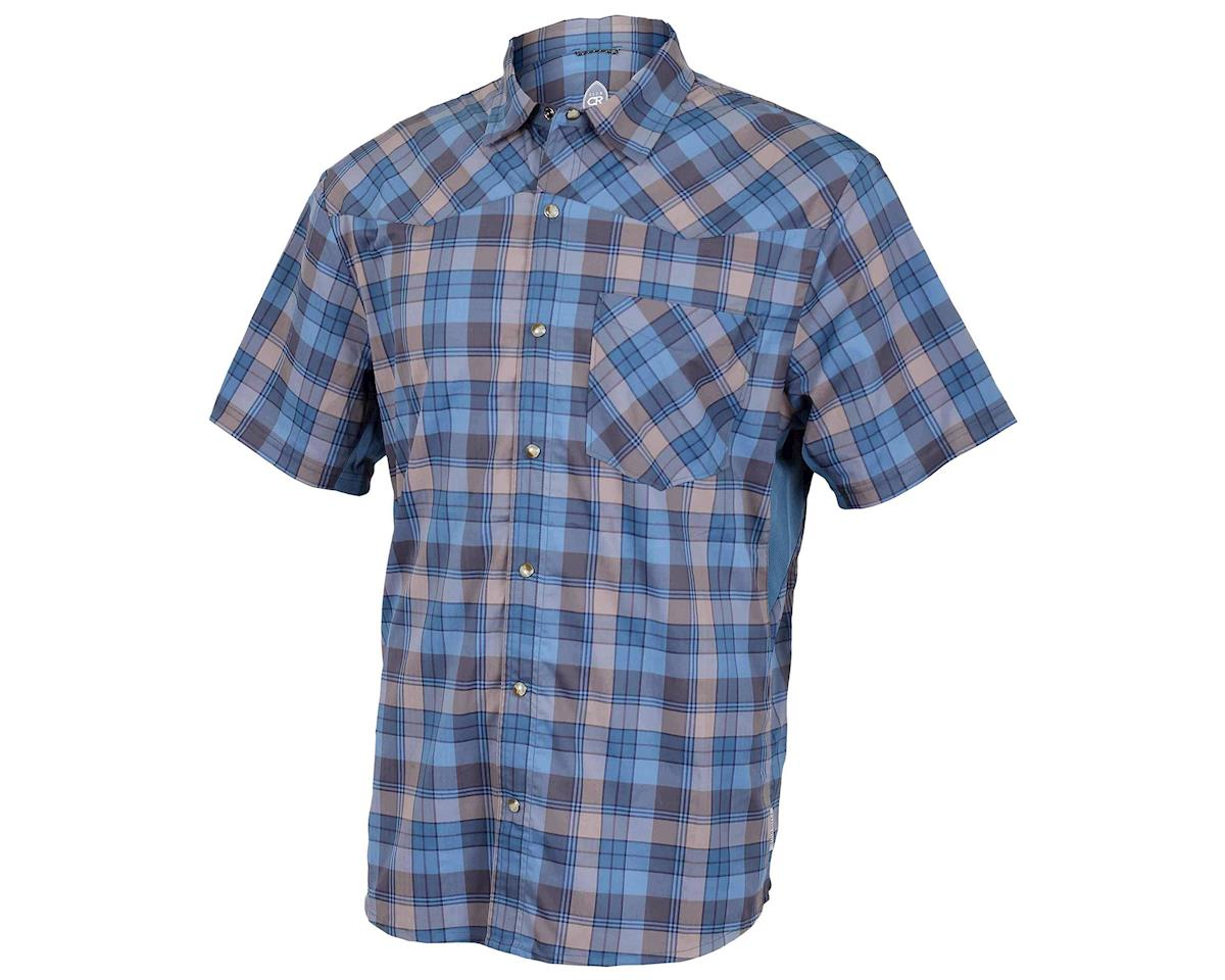 Club Ride Apparel New West Short Sleeve Shirt (Steel Blue) (S)