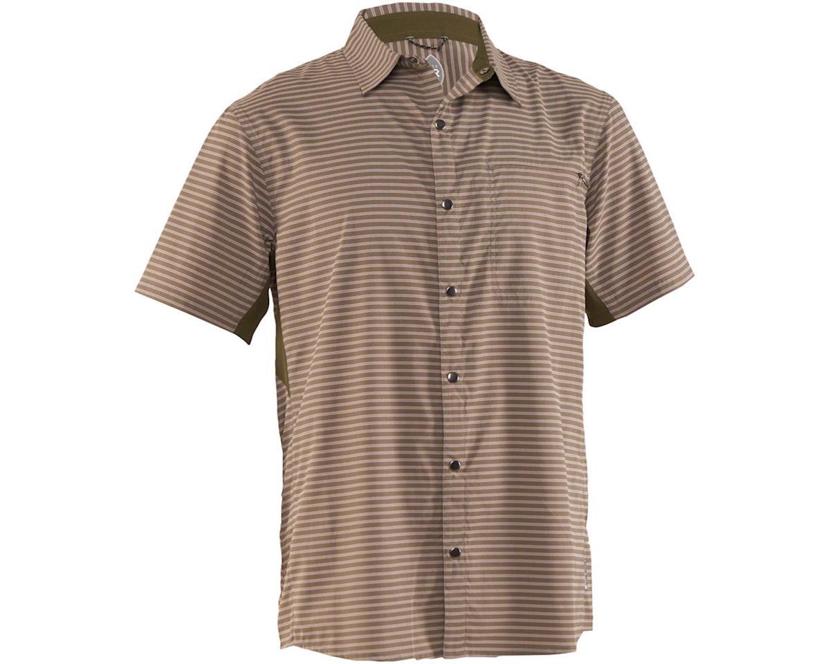 Club Ride Apparel Men's Vibe Short Sleeve Shirt (Grey Stripe) (S)