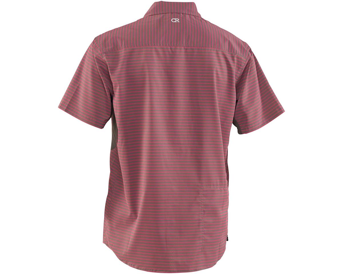 Image 2 for Club Ride Apparel Men's Vibe Short Sleeve Shirt (Merlot Stripe) (S)