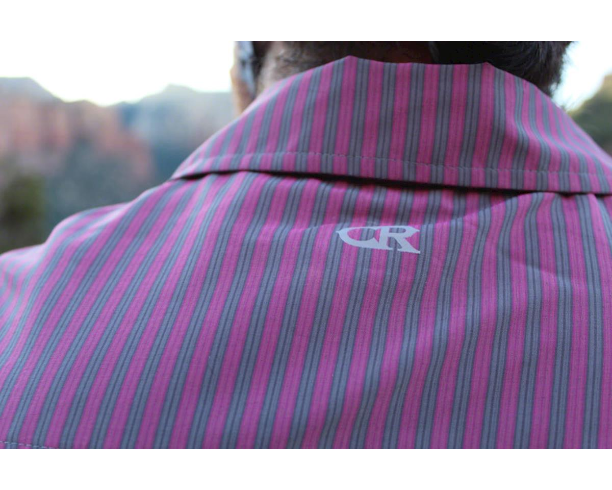 Image 5 for Club Ride Apparel Men's Vibe Short Sleeve Shirt (Merlot Stripe) (S)