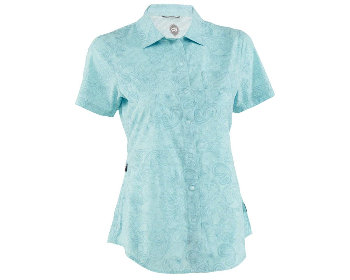 Club Ride Apparel Women's Camas Short Sleeve Jersey (Angel Blue Print) (XS)