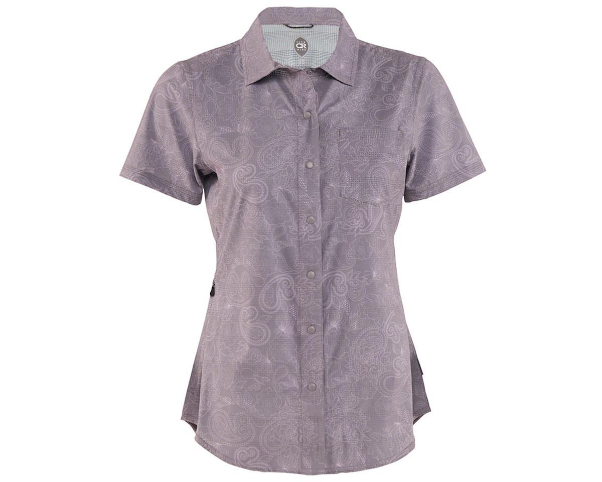 Club Ride Apparel Women's Camas Short Sleeve Jersey (Steel Print) (L)