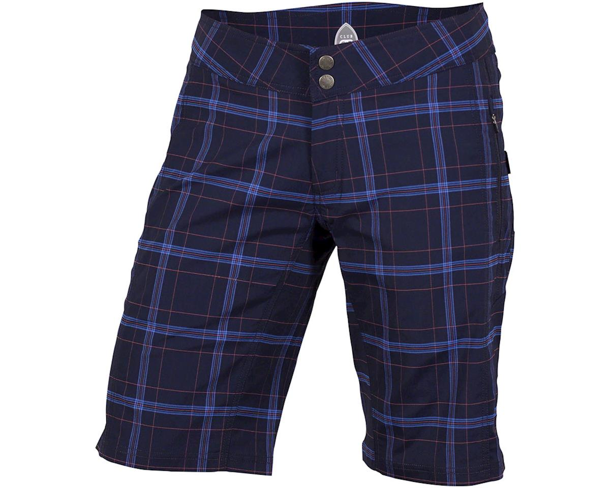Club Ride Apparel Women's Ventura Short (Navy Plaid) (L)