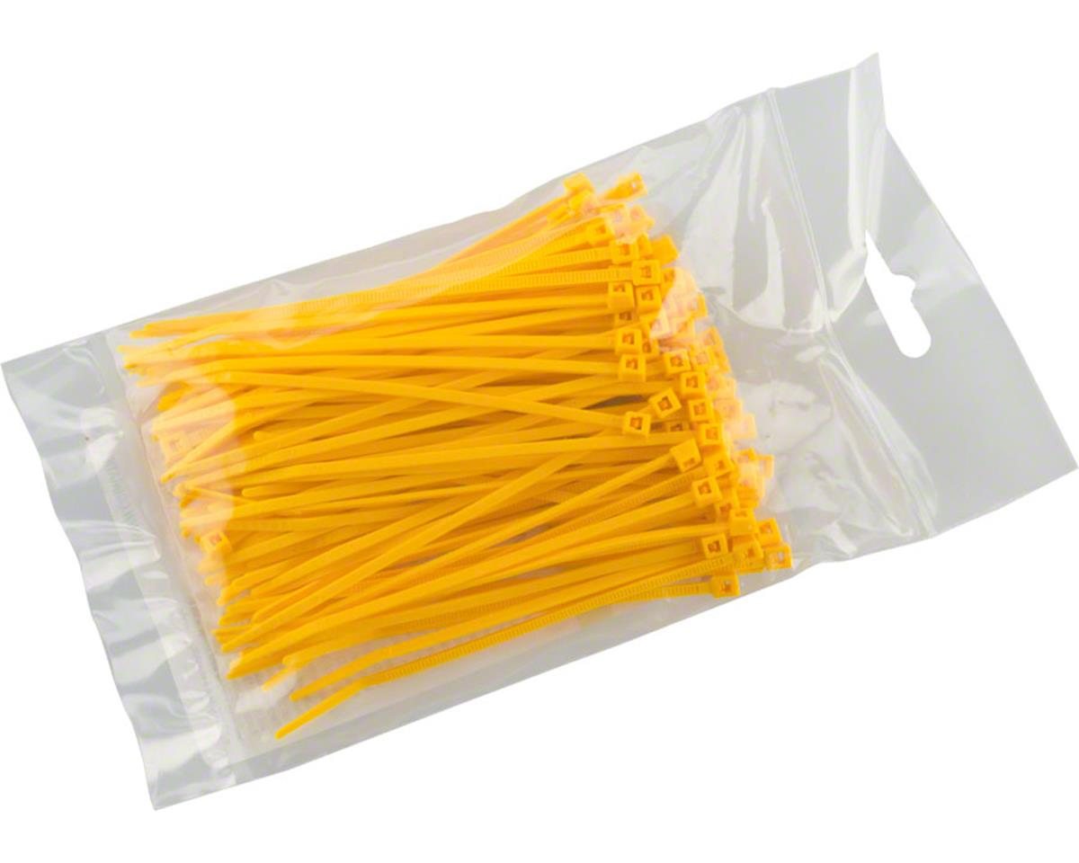 "Cobra Products Cobra Ties 6"" x 18lb (155 x 2.5mm) Miniature Zip Ties, Yellow, Bag of 100"