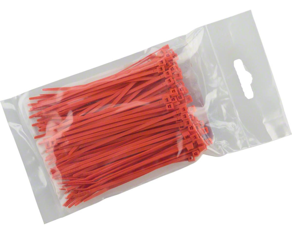 "Cobra Products Cobra Ties 6"" x 18lb (155 x 2.5mm) Miniature Zip Ties, Orange, Bag of 100"