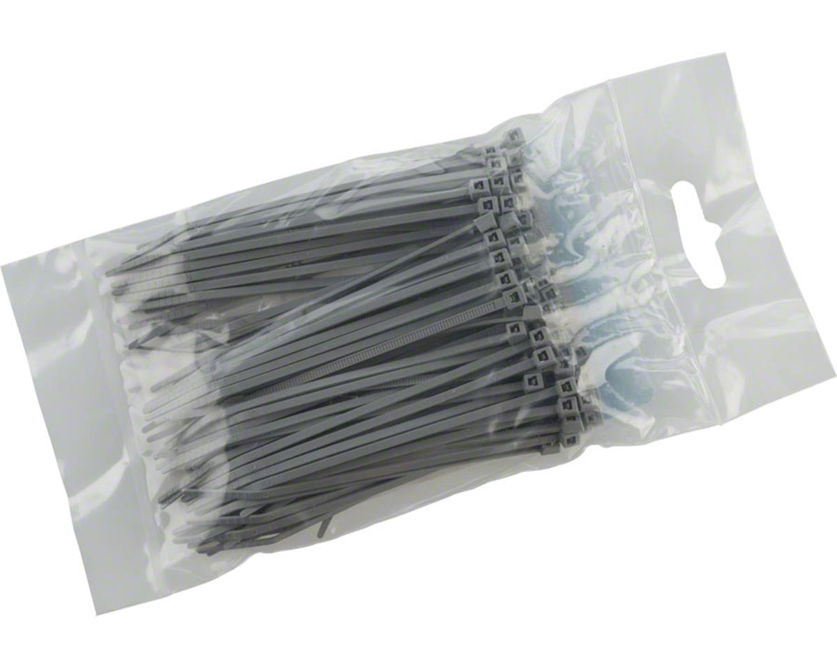 "Cobra Ties 4"" x 18lb (155 x 2.5mm) Miniature Zip Ties, Gray, Bag of 100"