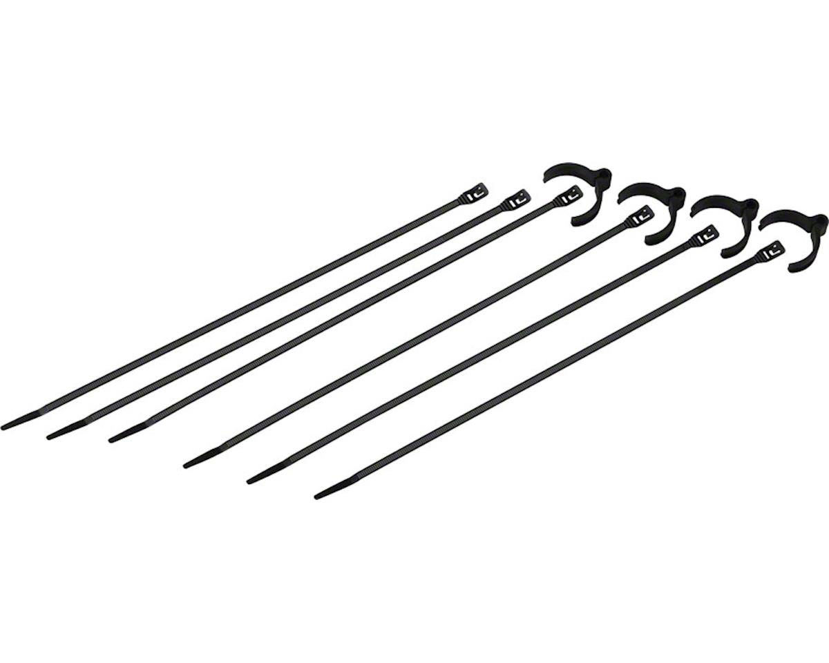 Cobra Ties Kit of 4 Flexroute Cable Guides and 6 Low Profile 50lb Cobra Ties (19
