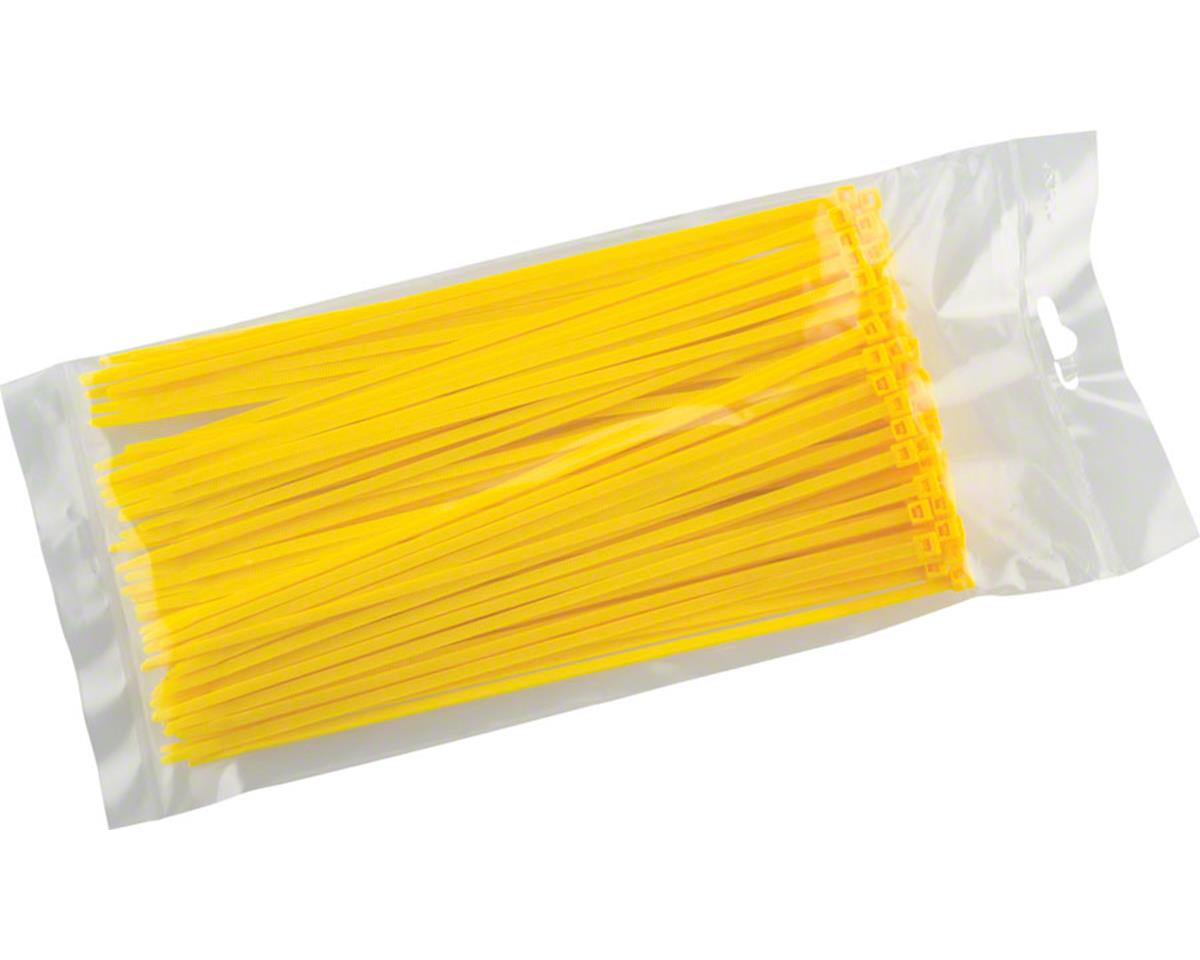 "Cobra Products Cobra Ties 8"" x 40lb (205 x 3.5mm) Intermediate Zip Ties, Yellow, Bag of 100"