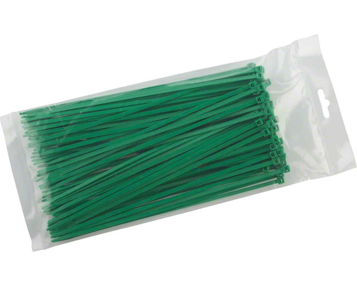 "Cobra Products Cobra Ties 8"" x 40lb (205 x 3.5mm) Intermediate Zip Ties, Green, Bag of 100"