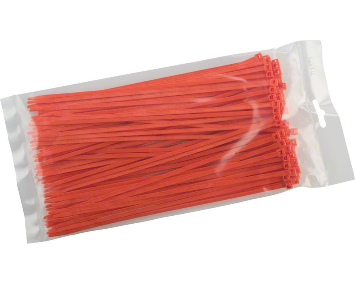 "Cobra Products Cobra Ties 8"" x 40lb (205 x 3.5mm) Intermediate Zip Ties, Orange, Bag of 100"