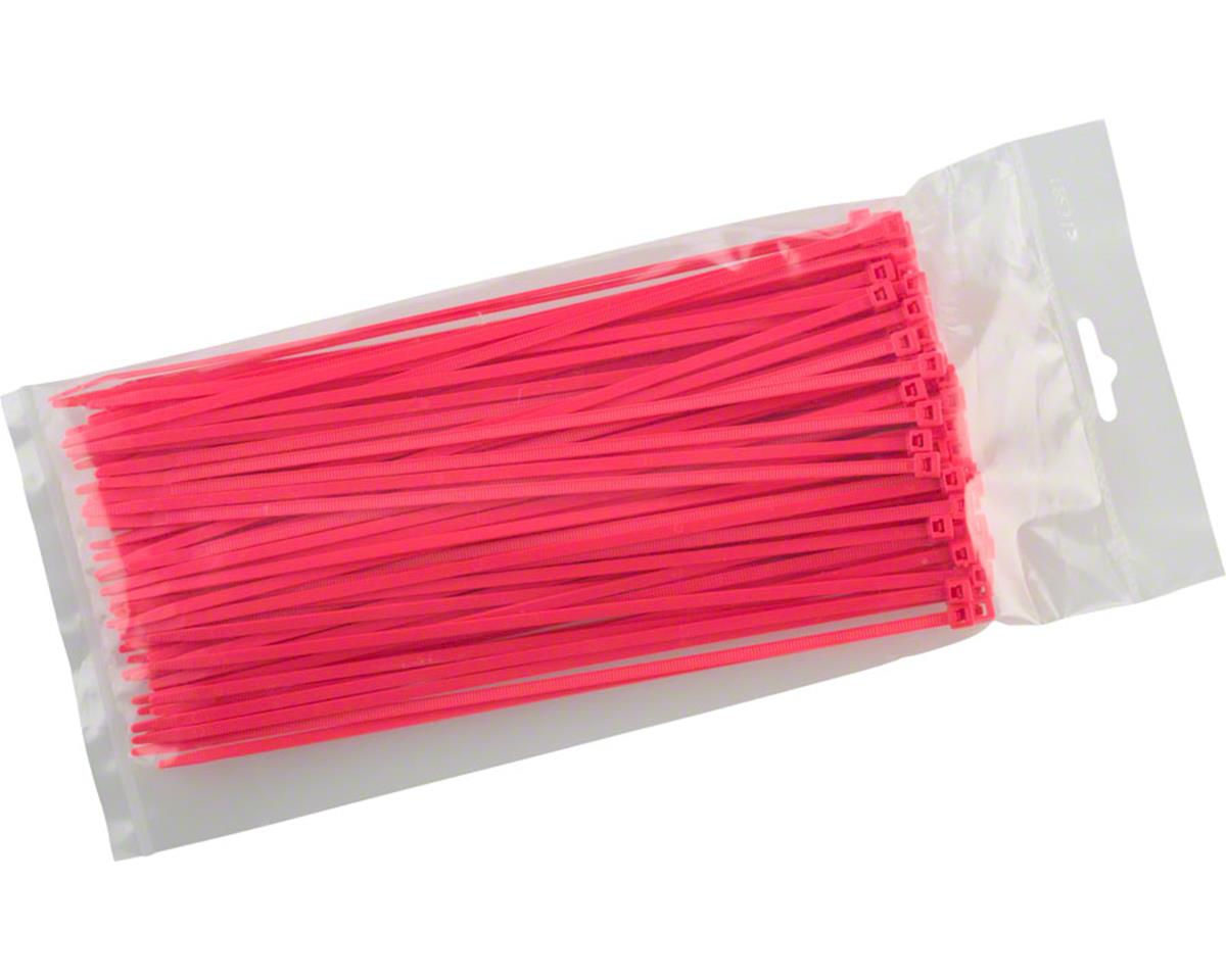 "Cobra Products Cobra Ties 8"" x 40lb (205 x 3.5mm) Intermediate Zip Ties, Flourescent Pink, Bag"