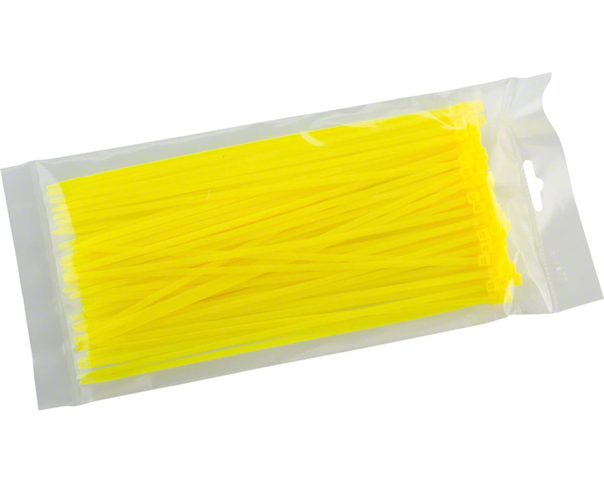 "Cobra Products Cobra Ties 8"" x 40lb (205 x 3.5mm) Intermediate Zip Ties, Flourescent Yellow, Ba"