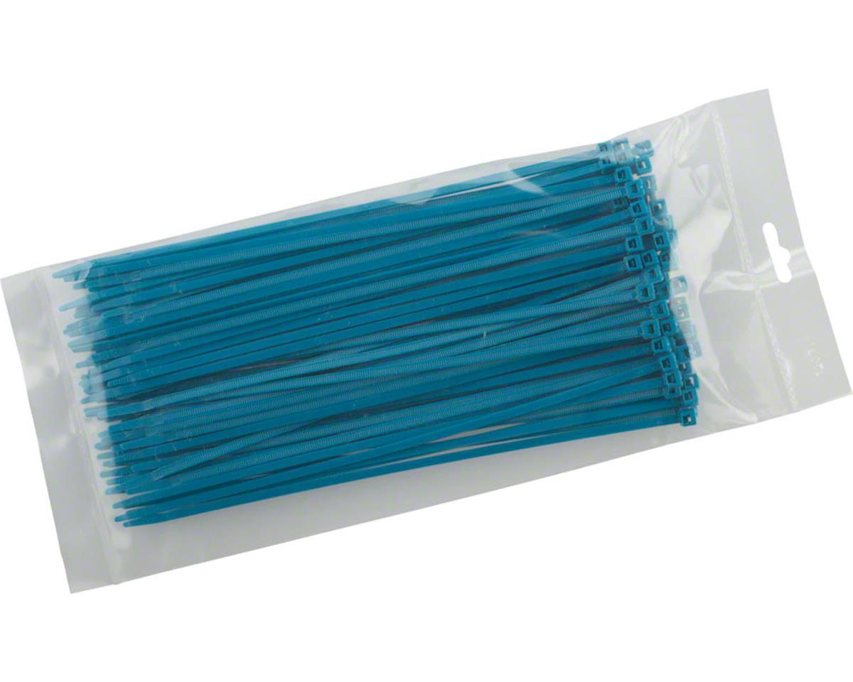 "Cobra Products Cobra Ties 8"" x 40lb (205 x 3.5mm) Intermediate Zip Ties, Flourescent Blue, Bag"