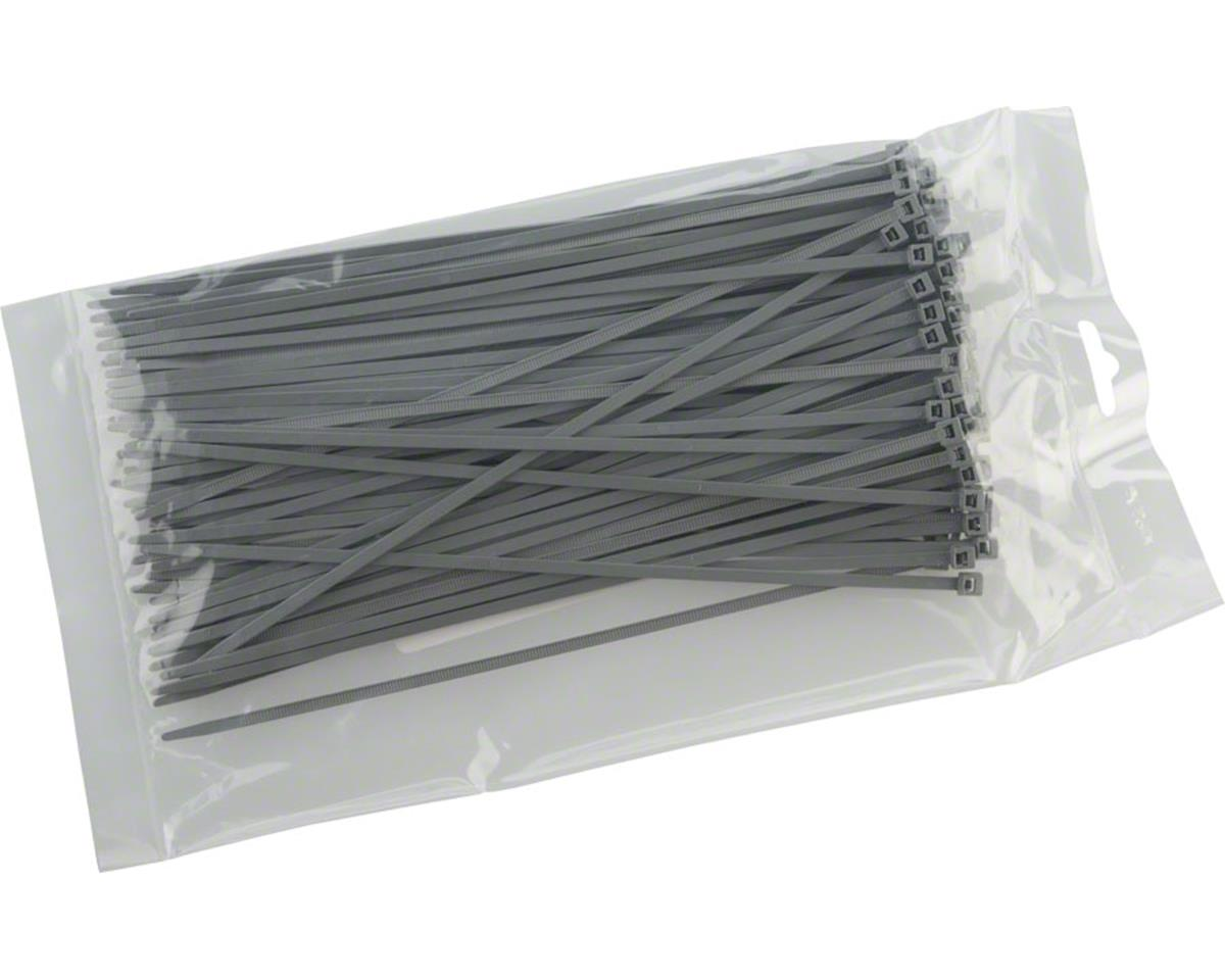 "Cobra Products Cobra Ties 8"" x 40lb (205 x 3.5mm) Intermediate Zip Ties, Gray, Bag of 100"