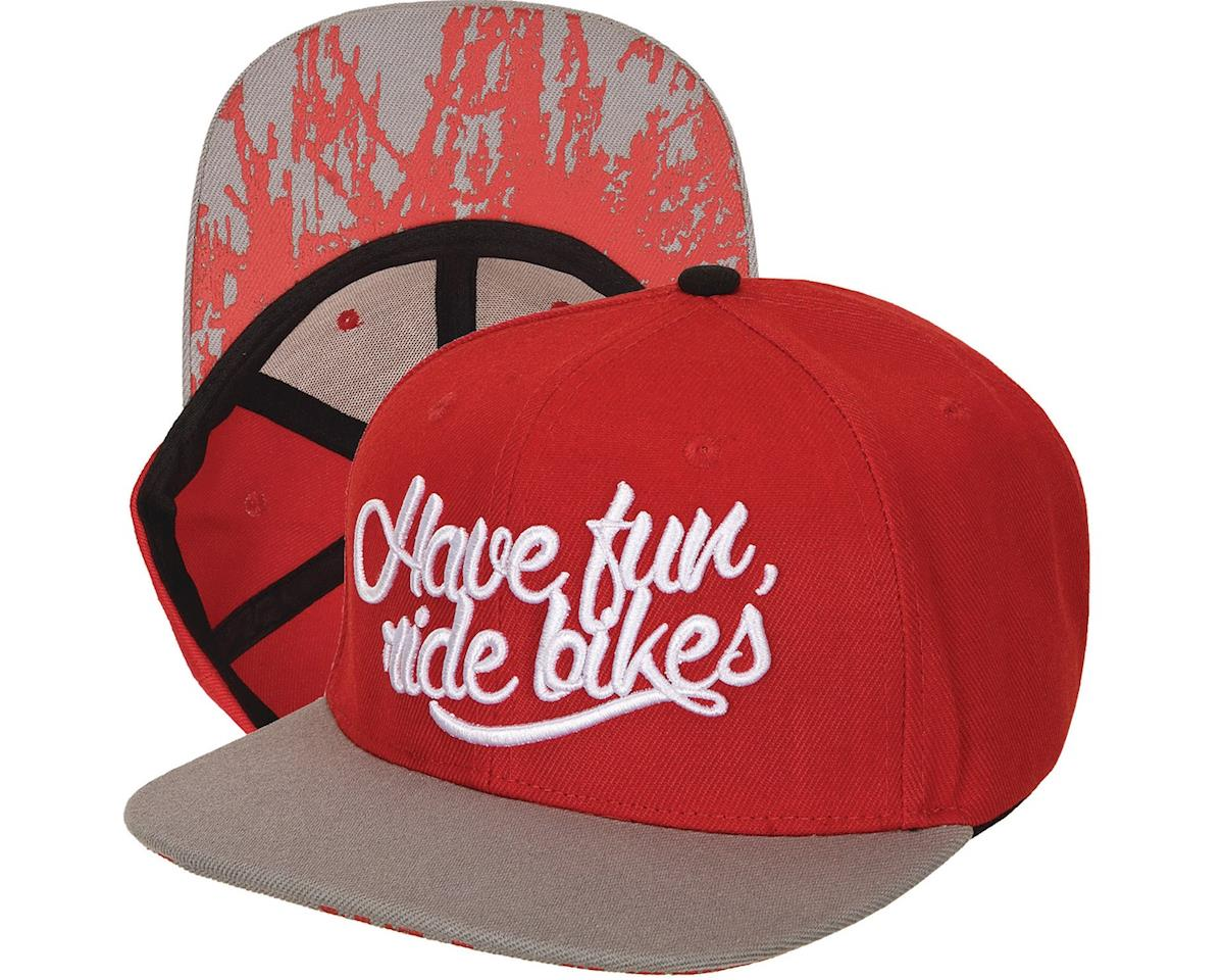 Colony Have Fun Snapback Hat (Red/Grey) (One Size Fits Most)