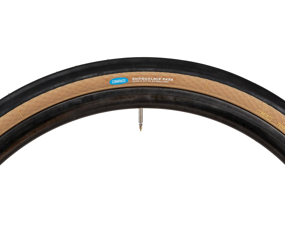 Rene Herse Snoqualmie Pass Tire (Tan Sidewall) (Extralight Casing) (700C x 44)
