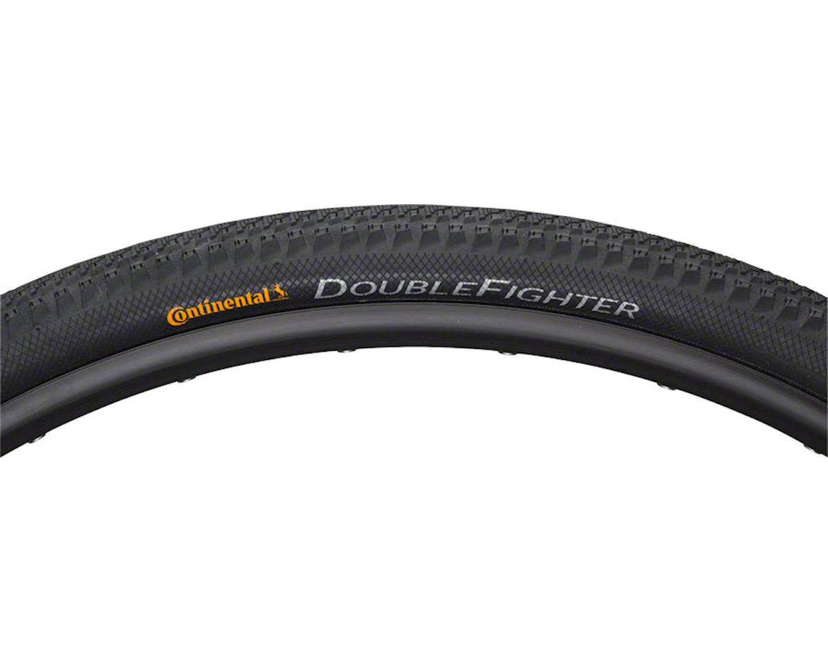 Continental Double Fighter III Tire - 700 x 35, Clincher, Wire, Black