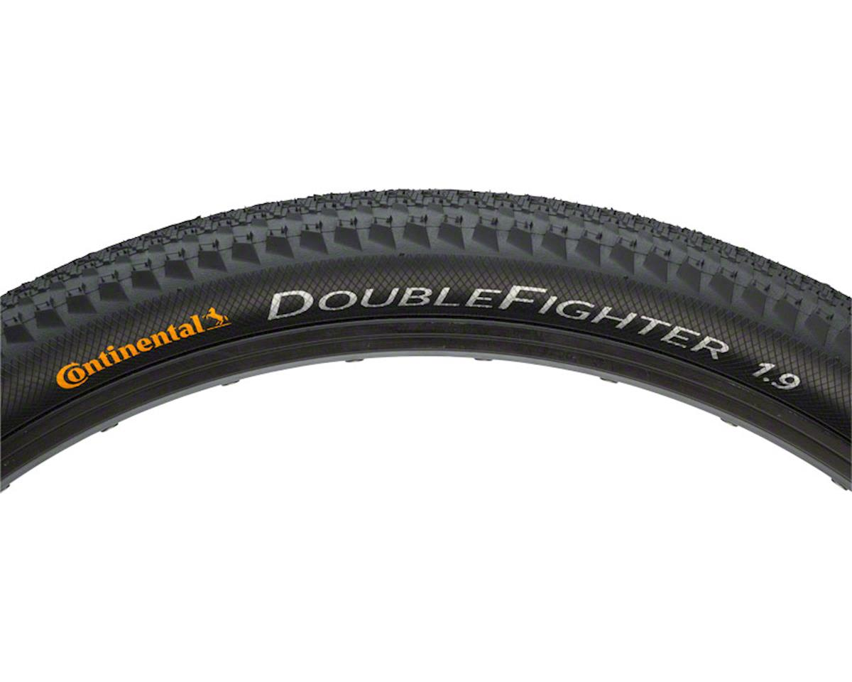 Continental Double Fighter III Tire - 26 x 1.9, Clincher, Steel, Black, 66tpi