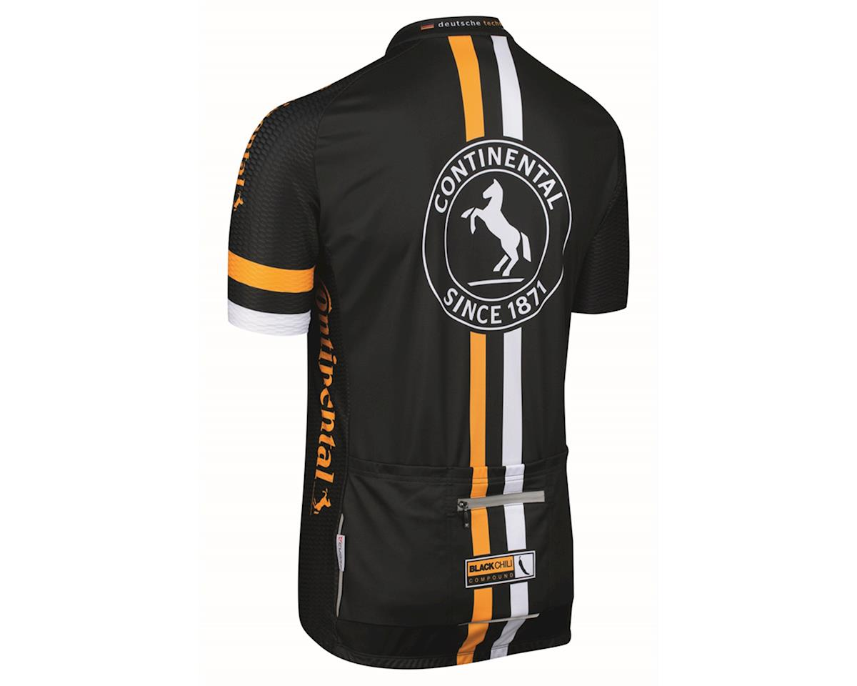 Continental Short Sleeve Jersey (Black/Yellow/White) (XL)