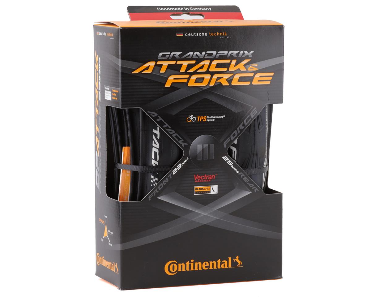 Continental Attack/Force III Road Tire Combo (Black)