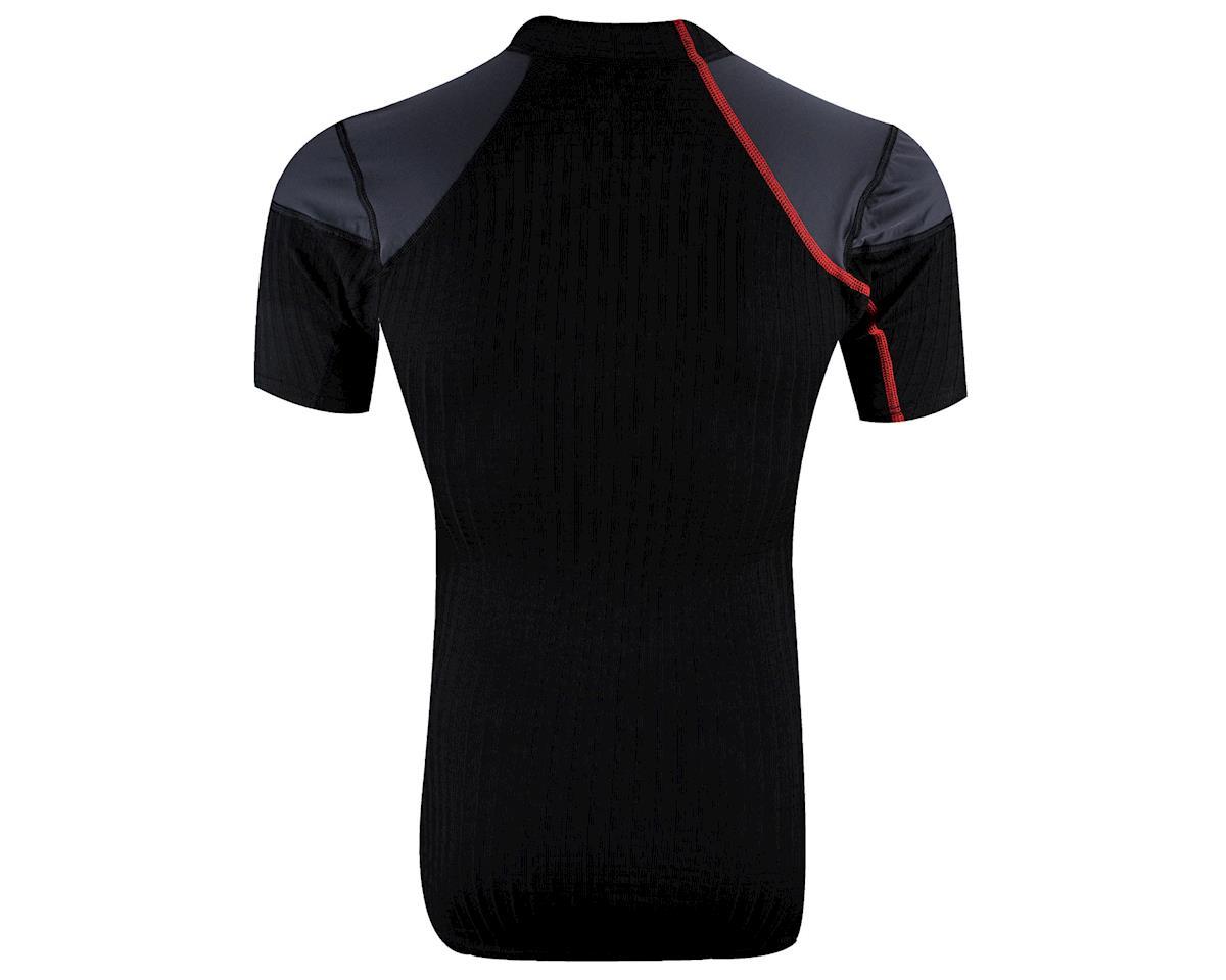 Craft Active Extreme Windstopper Short Sleeve Baselayer (Black/Red)