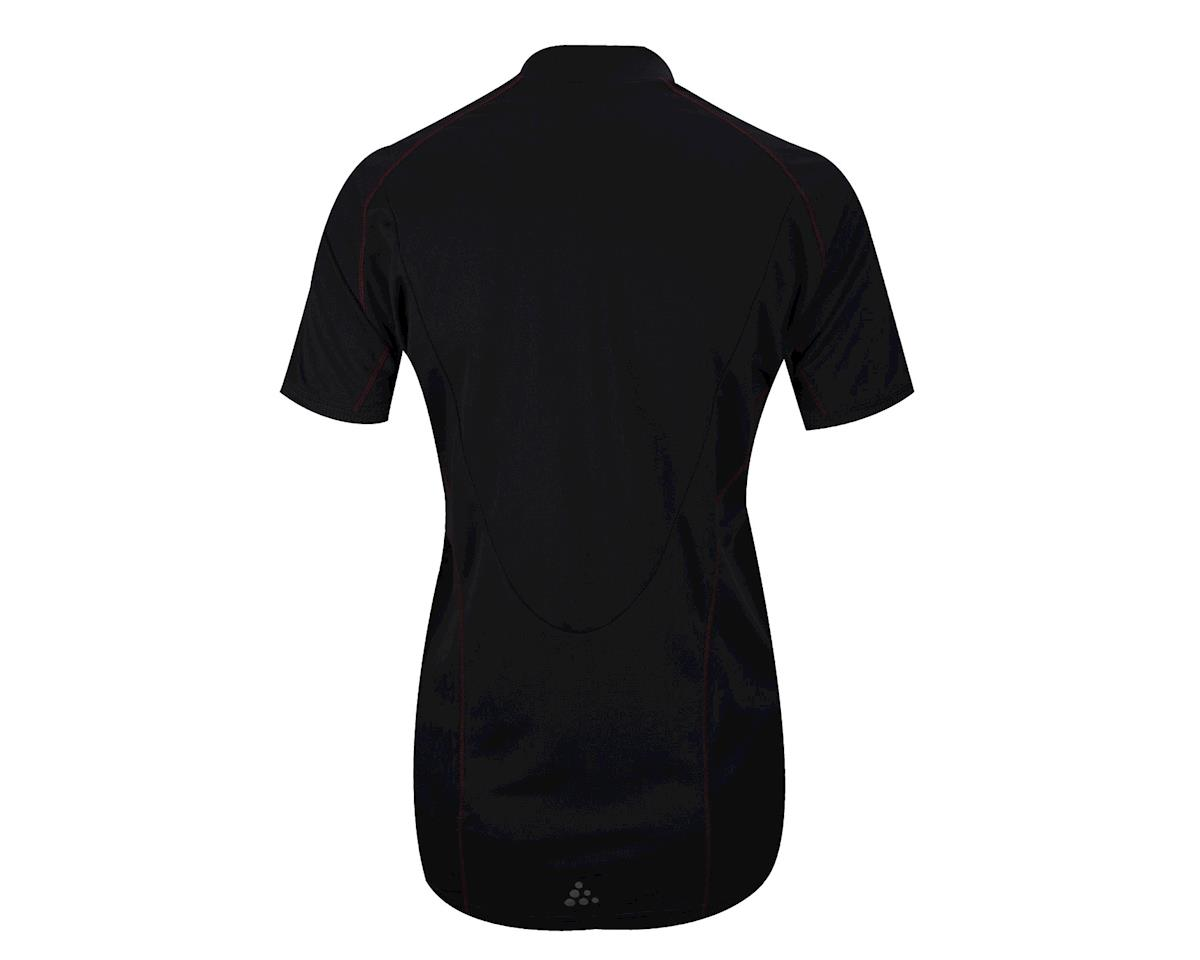 Craft Women's Path Short Sleeve Jersey (Black/White)