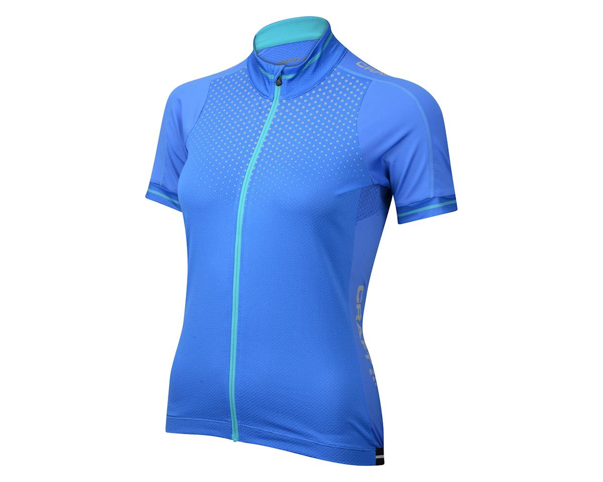 Craft Women's Glow Short Sleeve Jersey (Blue)