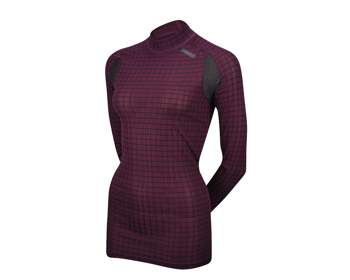 Craft Women's Active Extreme 2.0 Crew Neck Long Sleeve Baselayer (Plum)