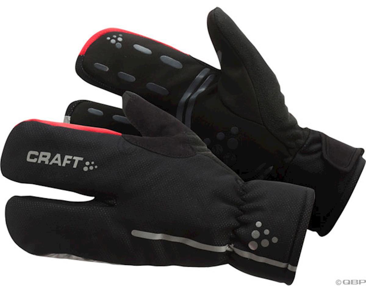 Craft Bike Thermal Split Finger Gloves (Black) (Xlarge)