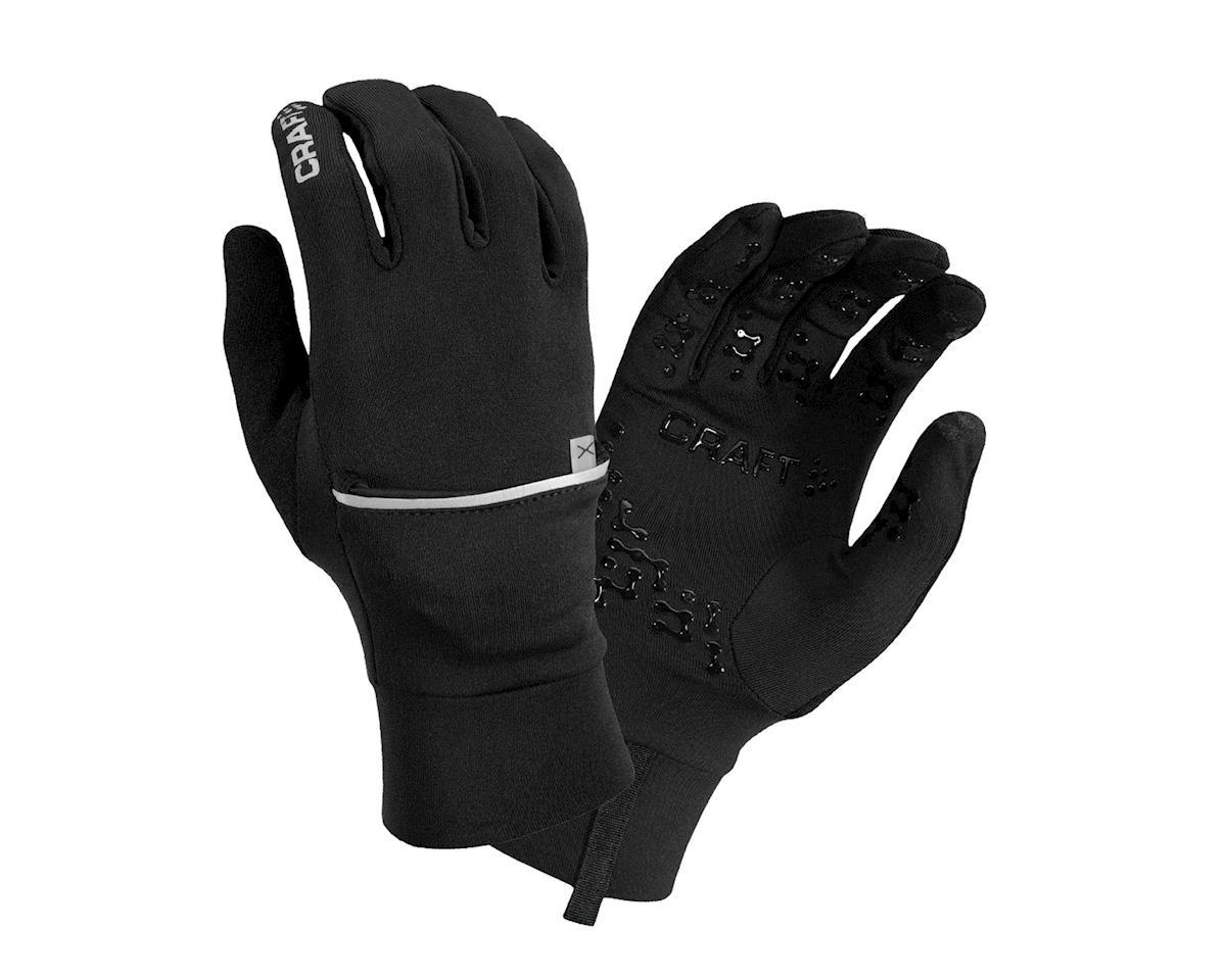 Craft Hybrid Weather Gloves (Black) (L)