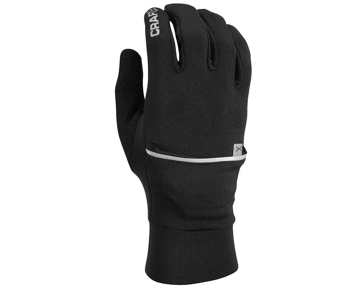 Craft Hybrid Weather Gloves (Black) (M)