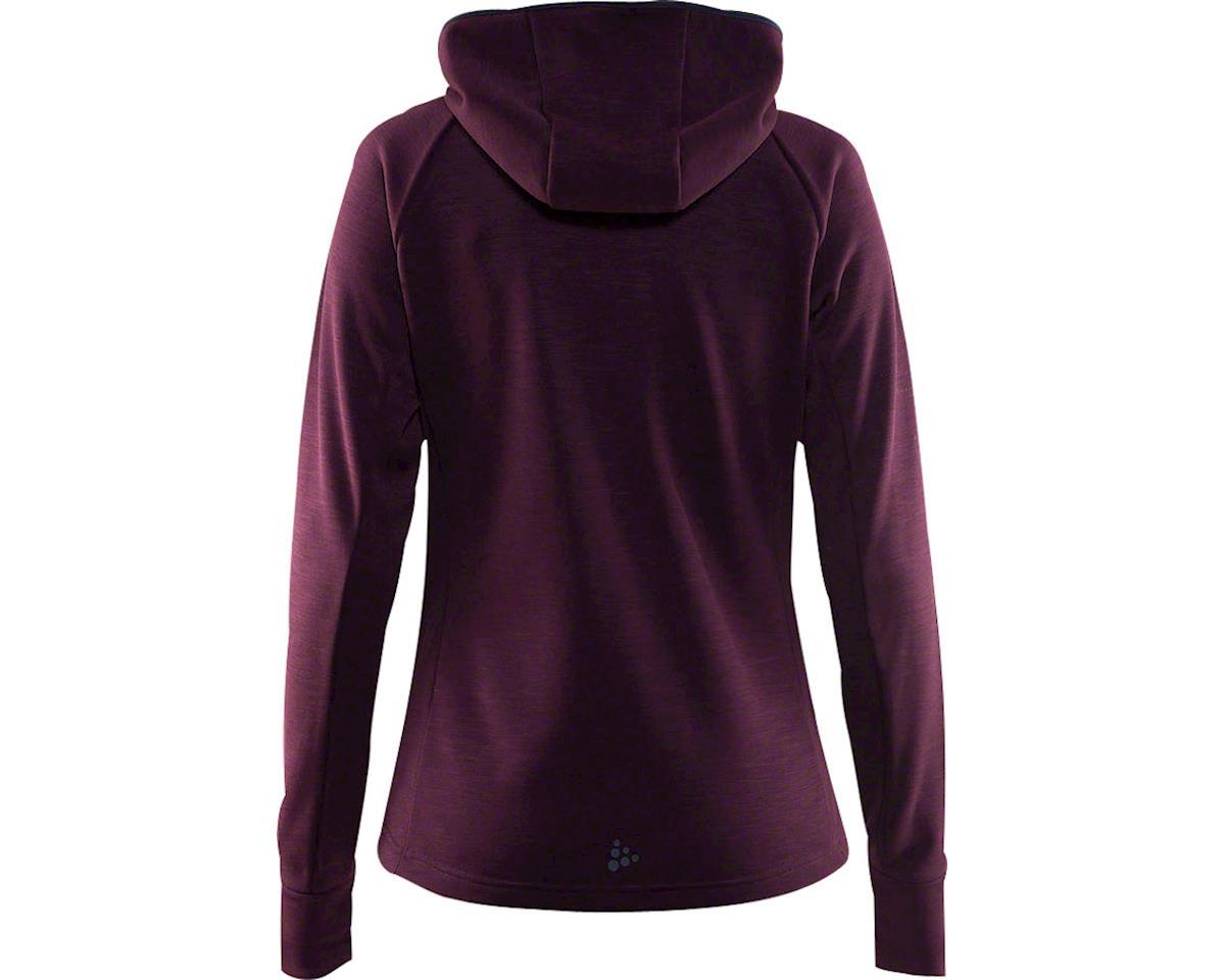 Craft Warm Women's Hooded Jacket: Purple LG