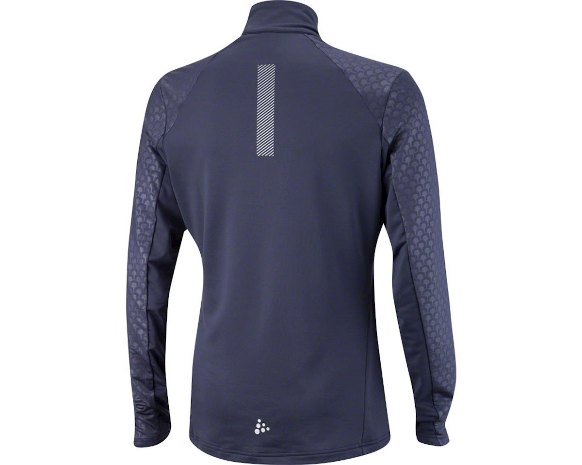 Craft Facile Men's Embossed Halfzip: Blue XL (L)